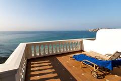 Panorama du Golfe de la mer Méditerranée du balcon Images stock