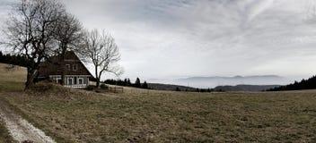 Panorama du Krkonose Mts. Image stock