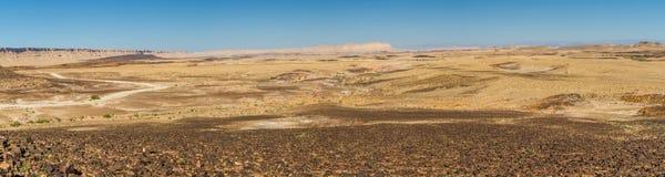 Panorama du Makhtesh Ramon dans le désert du Néguev, Israël Photo stock