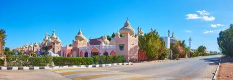 Panorama du marché oriental du Sharm el Sheikh, Egypte Photos stock