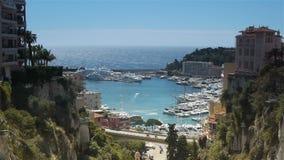 Panorama du Monaco, Cote D'Azur France banque de vidéos