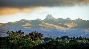 Panorama du mont Kenya Photographie stock