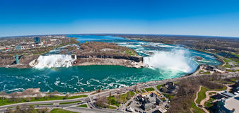 Panorama du Niagara Falls Images stock