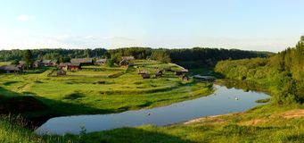 Panorama du nord 2 de village photographie stock