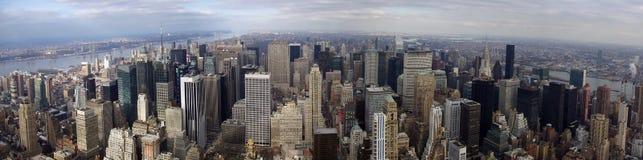 Panorama du nord de Manhattan Image libre de droits