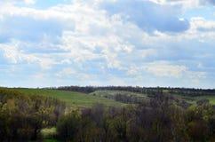 Panorama du paysage rural en début de l'été images stock