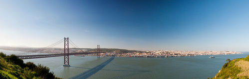 Panorama du pont Lisbonne Portugal Photo stock