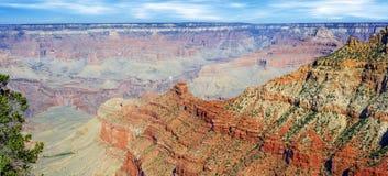 Panorama du RIM de sud de canyon grand Photos libres de droits