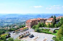 Panorama du Saint-Marin l'Italie Image libre de droits