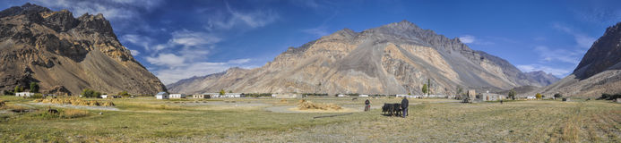 Panorama du Tadjikistan images stock