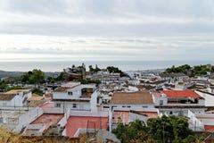 Panorama du village blanc de Mijas Costa del Sol, Andalousie l'espagne Photographie stock