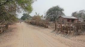 Panorama du village dans la région de Bagan banque de vidéos