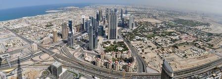 Panorama of Dubai. A large Panorama of Dubai, taken from the Burj kalfla Royalty Free Stock Images