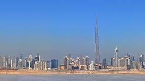 Panorama Dubai city. City centre, skyscrapers Stock Images