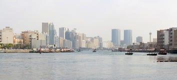 Panorama of the Dubai Creek Stock Photo