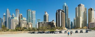 Panorama of Dubai Marina Stock Images