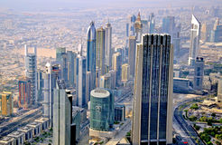 Panorama of Dubai, UAE Stock Photography
