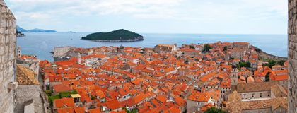 Panorama of Dubrovnik Stock Photos