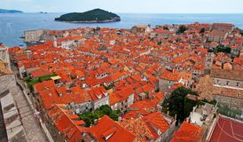 Panorama of Dubrovnik Royalty Free Stock Photo