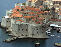 Panorama of Dubrovnik royalty free stock photos