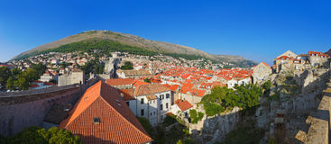 Panorama of Dubrovnik in Croatia Royalty Free Stock Photo
