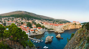 Panorama of Dubrovnik, Croatia at sunset Royalty Free Stock Photo