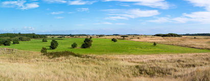 Panorama of dunes on island Texel, Netherlands Stock Image