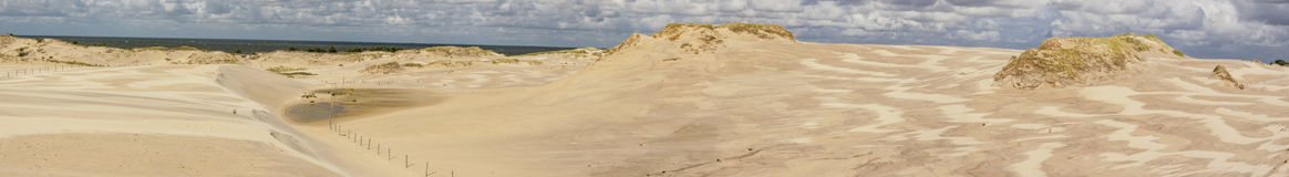 Panorama of dunes - Leba. Royalty Free Stock Photos