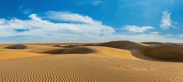Panorama of dunes in Thar Desert, Rajasthan, India Stock Photos