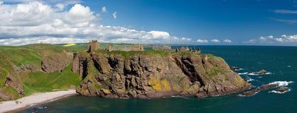 Panorama of Dunnotar Castle Stock Photos