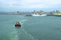 Panorama of Durban port, South Africa Stock Photography