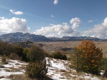 The Durmitor mountain in the autumn Stock Photo
