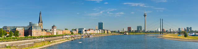 Panorama of Dusseldorf Royalty Free Stock Photos