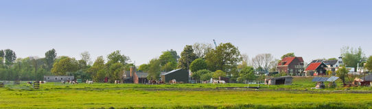 Panorama Dutch country landscape in spring Stock Image