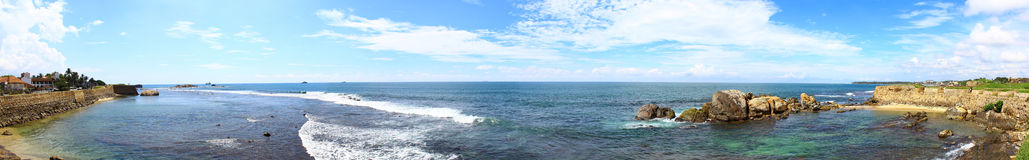 Panorama of the Dutch Fort in Galle Stock Photos