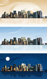 Panorama duży miasto. Obrazy Stock