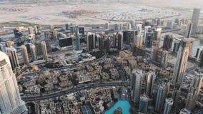 Panorama e vista aérea da cidade de Dubai no inverno United Arab Emirates Em janeiro de 2019 filme