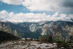 Panorama e vista delle alpi su Triglav Immagine Stock Libera da Diritti
