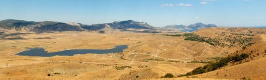 Panorama eastern Crimea. In summer stock photography