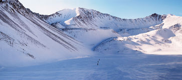 Panorama of Eastern Sayan mountains. Altai. Royalty Free Stock Photos