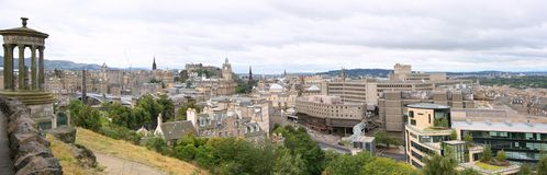 Panorama of Edinburgh Royalty Free Stock Images