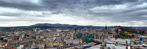 Panorama Edinburgh. From Calton hill Stock Photos
