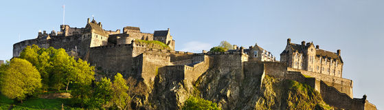 Panorama of Edinburgh castle, Scotland Stock Images