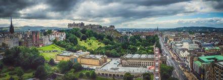 Panorama of Edinburgh Royalty Free Stock Images