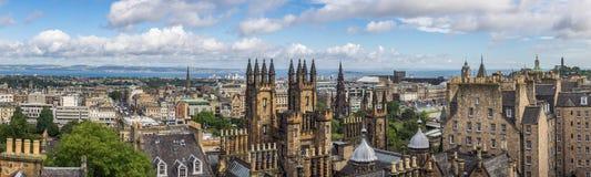 Panorama of Edinburgh Stock Photography