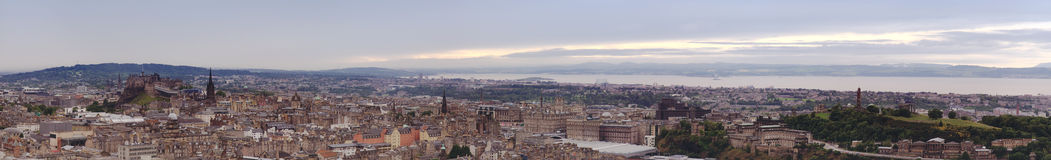 Panorama of Edinburgh, Scotland Stock Photo