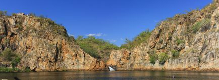 Panorama - Edith falls, Nitmiluk National Park, Northern Territory, Australia. Edith falls, Nitmiluk National Park, Northern Territory, Australia stock photos