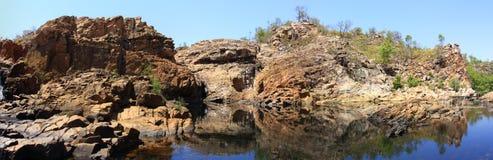 Panorama - Edith falls, Nitmiluk National Park, Northern Territory, Australia Royalty Free Stock Photos