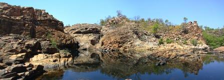 Panorama - Edith falls, Nitmiluk National Park, Northern Territory, Australia Stock Image