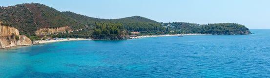 Panorama egeo della costa, Sithonia, Grecia Immagine Stock